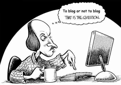 A comic illustrating the big question would-be bloggers ask themselves