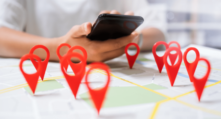 User Searching for Local Business using a Phone